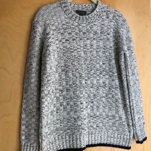 Topshop gray black basket weave sweater size 4